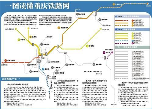最全《重庆铁路地图》出炉 一图读懂重庆铁路网