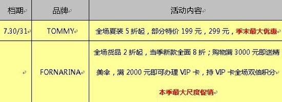 [龙湖天街]美淘荟品牌折扣 最低2折(7.30-8.21)
