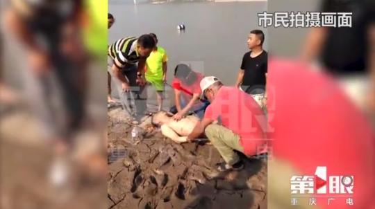 六旬老人游长江意外溺水 暂未脱离生命危险