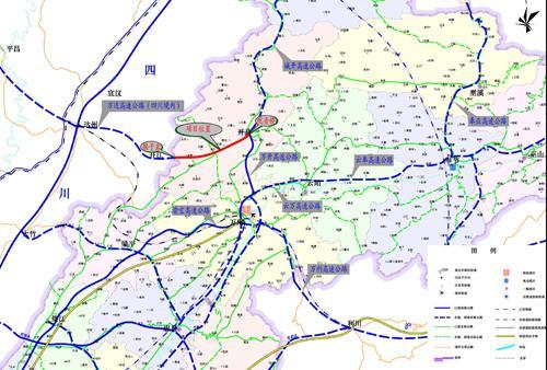 西安到达州铁路地图