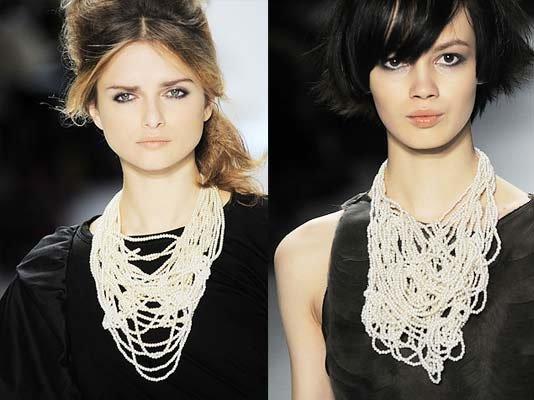 wang的珍珠围嘴项链