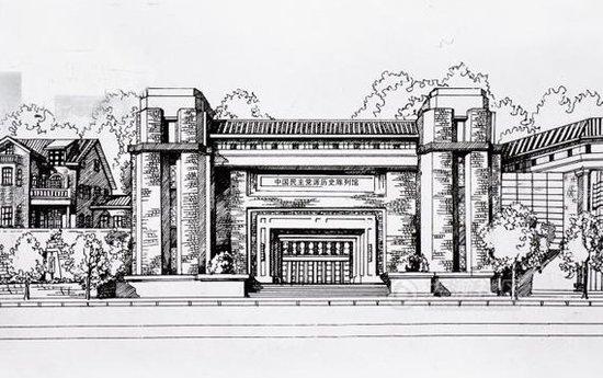 手绘南美洲著名建筑物