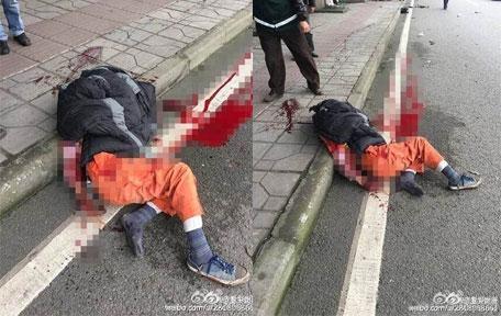 [网友报料]渝北环卫工被撞惨身亡