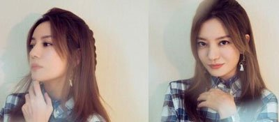 赵薇《幻乐之城》花絮照曝光,蓝格衬衫搭黑长裙,美回青春的样子