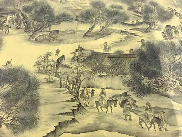 家庭主妇耗时近6年 画出12米长《清明上河图》