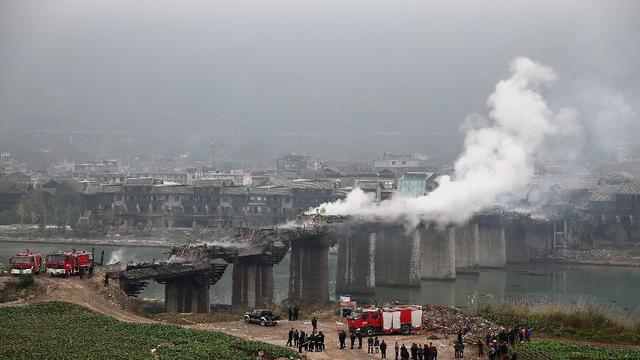 亚洲第一风雨廊桥重庆黔江戳水廊桥恢复工程将完工