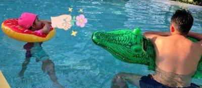 大S晒老公和女儿泳池亲昵照 汪小菲光背秀健硕身材
