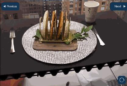 以后去餐馆点餐可以用AR技术先模拟一下了