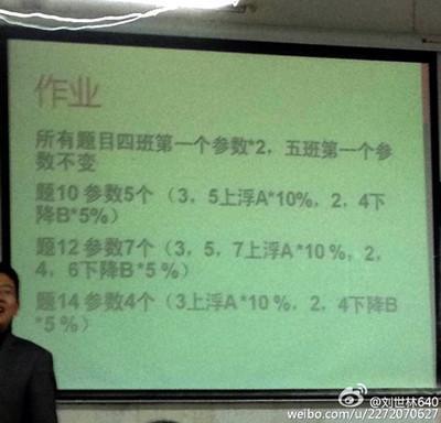 高校老师用学生学号布置作业 被称史上最牛(图)