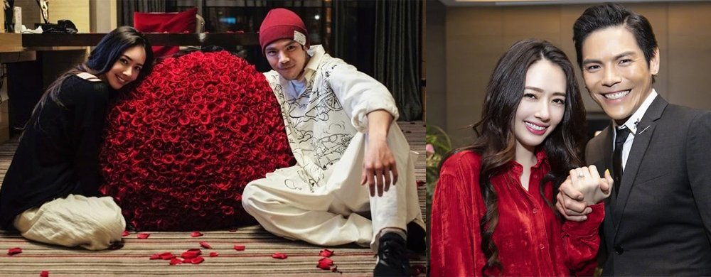 向佐520晒与未婚妻合照甜秀恩爱,郭碧婷收巨束玫瑰笑靥如花