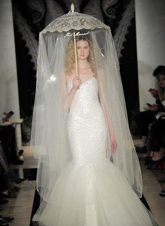 人鱼公主般的迷人优雅鱼尾裙婚纱
