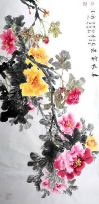国画大师罗国礼现场作画 庆贺展爱红木学府怡景店开业