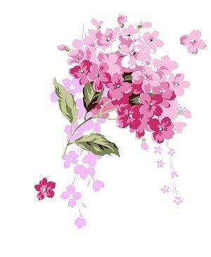 淡粉色手绘花ppt背景