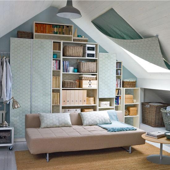 针对阁楼卧室型状不规则的设计方案