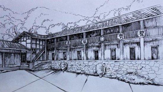 手绘重庆老建筑