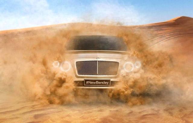 [海外车讯]宾利全新SUV车型首张预告图曝光