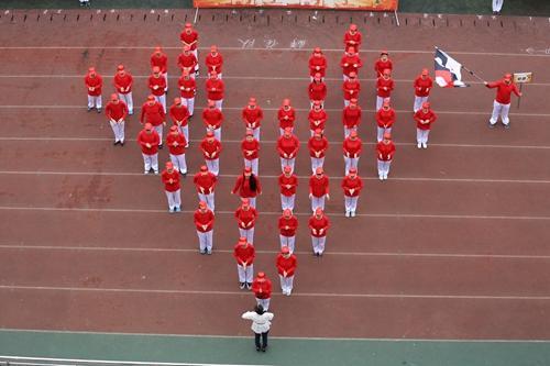 """重庆七中运动会启幕 61个创意""""项目方阵""""诠释奥运精神图片"""