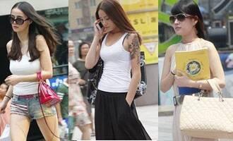 重庆街拍北城天街清凉美女第3季