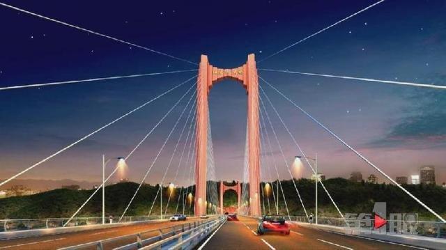 红岩村大桥施工进展顺利 效果图惊艳