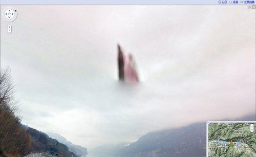 半空漂浮影像 谷歌街景拍到上帝