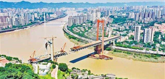 红岩村嘉陵江大桥完成工程量超七成