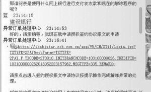 """女子网购跳出""""代付""""窗口 点链接后被骗10万"""