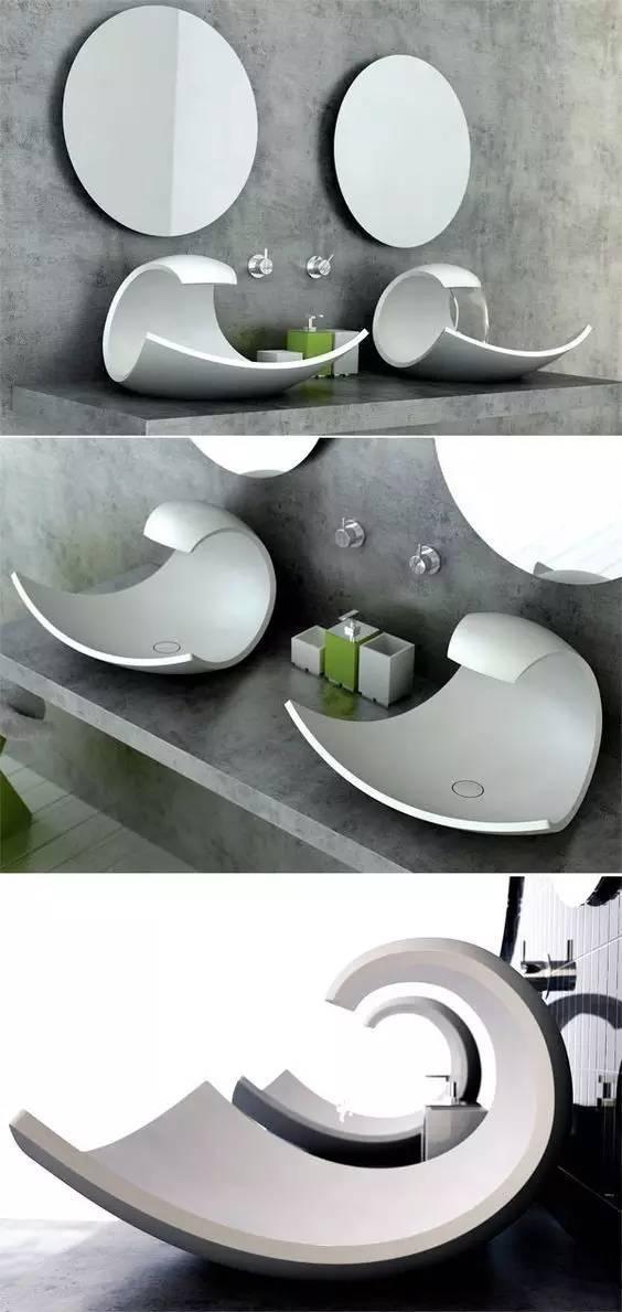 看看别人家的洗手盆 这才叫设计啊!