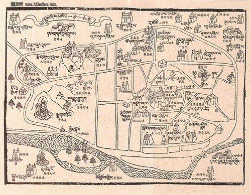 拉萨手绘地图(点击放大)