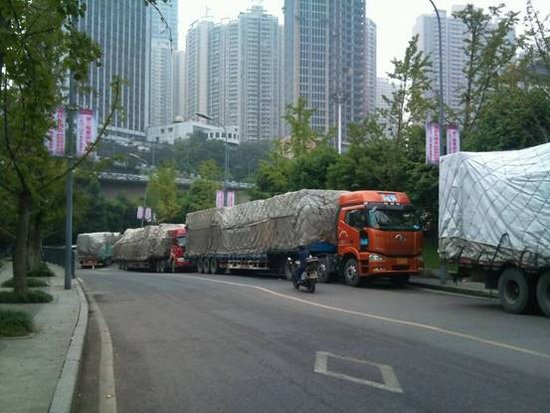 11月重庆车博会 首批展具已到现场
