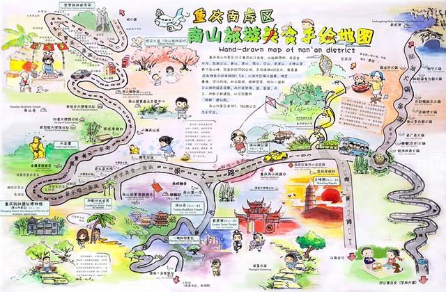 乐旅游手绘地图(图)