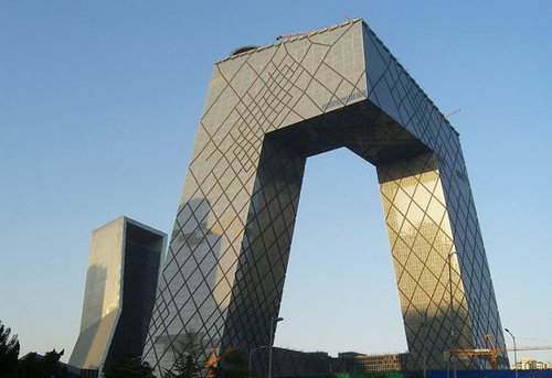 了cctv的标志性形象,也翻开了中国建筑界新的一页