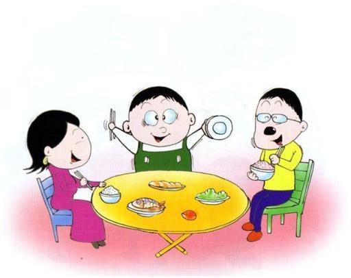因此,别管之前碰到什么不开心的事,吃饭时迅速调整好心情很重要.图片