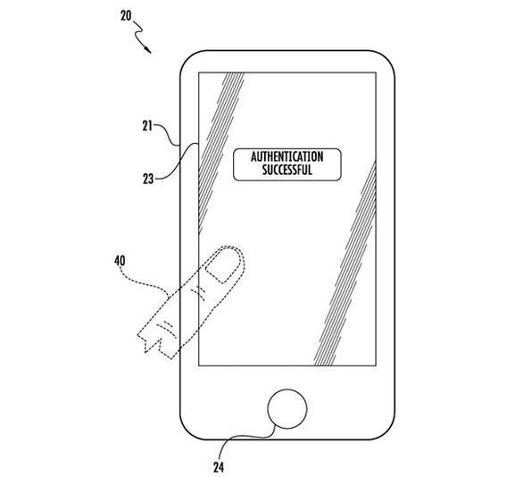 苹果新专利:整个屏都能识别指纹 放哪儿都解锁