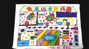 小学简单的家庭逃生图_个性寒假作业:搞家装 绘族谱 绘家庭逃生路线