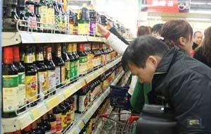 重百,市民开始抢购酱油