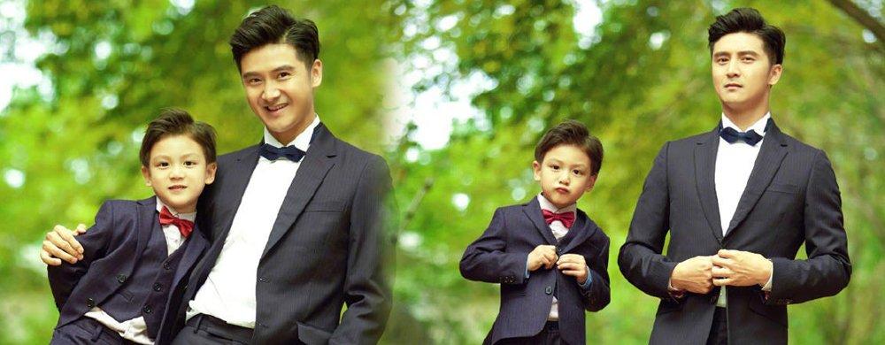 田亮带儿子拍写真 父子俩的颜值也是没谁了