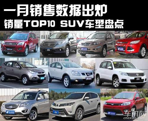 一月销售数据出炉 销量TOP10 SUV车型盘点