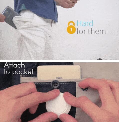 把手机锁在裤子里 从此再也不怕小偷