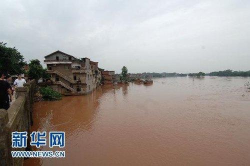 正形成大洪水 三峡最高洪峰将超98年