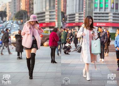 打望重庆美女冬日最时髦穿搭