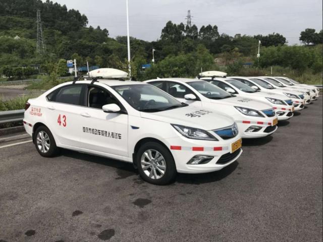 重庆交巡警总队全国首次试点推出新能源考试车