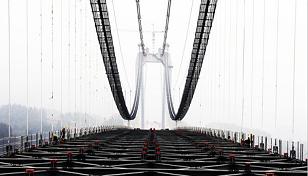 """重庆新""""第一高桥""""预计明年3月建成"""