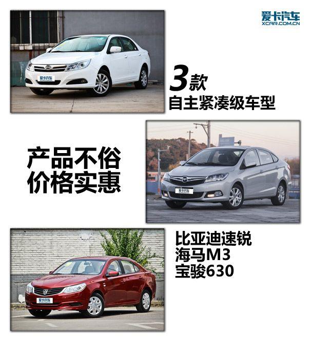 产品不俗价格实惠 3款自主紧凑级车推荐