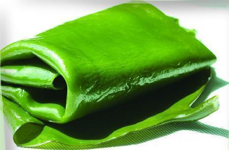 翠绿色的海带,染色了吗?