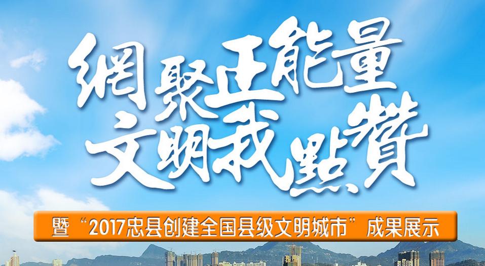 忠县:网聚正能量 文明我点赞
