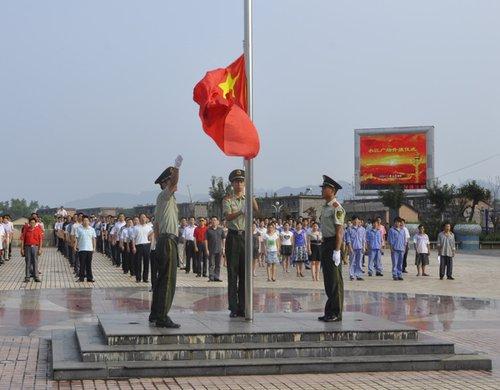 南川一乡镇四年如一日坚持每周升国旗唱国歌