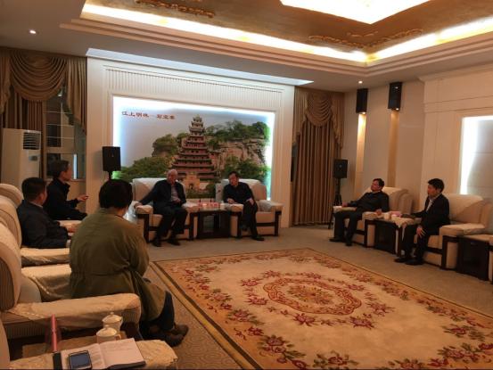 忠县县领导会见中国初保基金会、市慈善总会领导