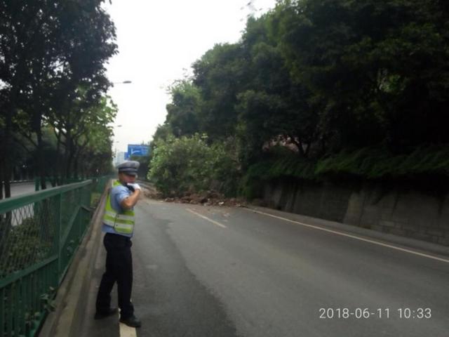 最新进展!九龙坡锦龙路路滑坡路段现已恢复通车