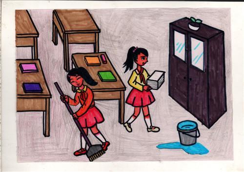 18幅小学生漫画《守则》录取让正量一目了福田区小学蹿红图片
