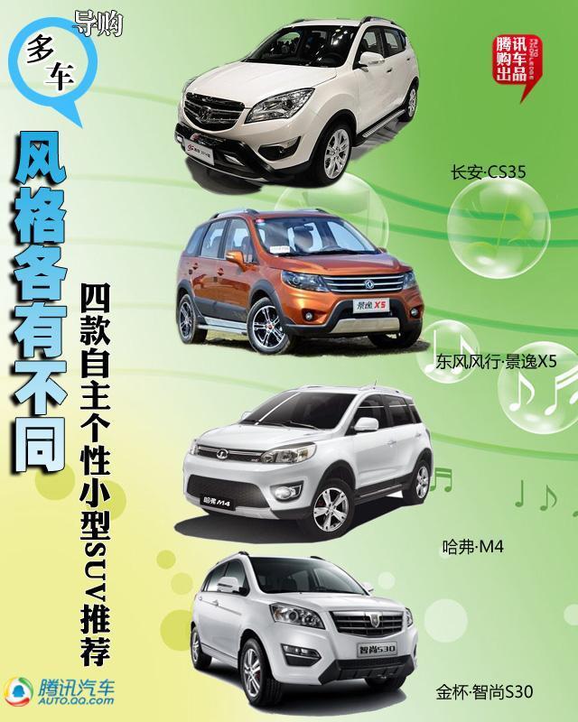 四款自主个性小型SUV推荐 风格各有不同